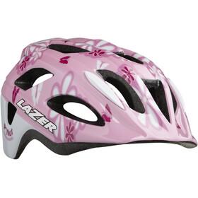 Lazer P'Nut Helmet Kinder pink flowers